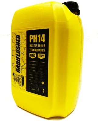 Щелочное средство для промывки радиатора, печки, системы охлаждения авто RADIFLUSHER pH14, 10 л